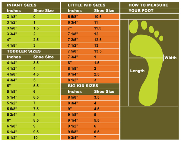 856d414d7a YOUTH SHOE SIZES Womens width chart