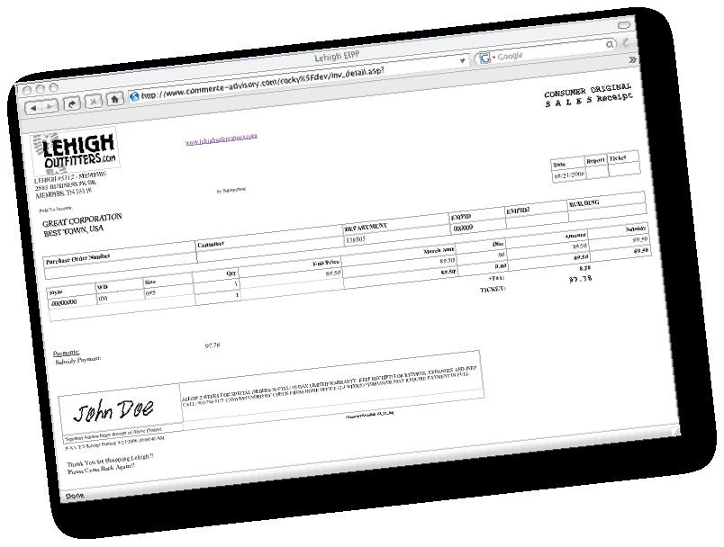 EIPP Receipt