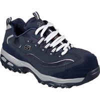 SKECHERS Work D'Lites Pooler Women's Alloy Toe Slip-Resistant Work Athletic Shoe