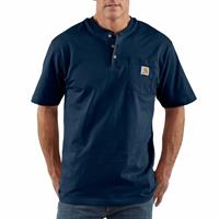 Carhartt Short Sleeve Henley Collar Work T-shirt